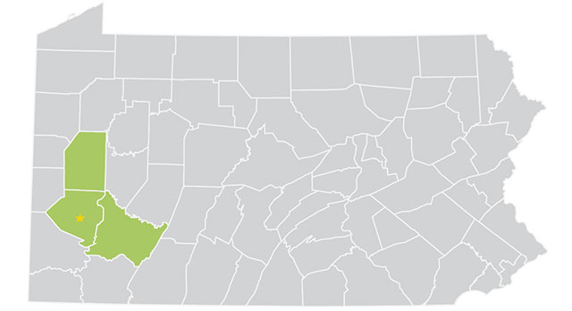 PAServes - Pittsburgh: Counties we serve
